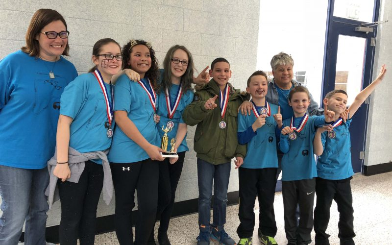PBE's Odyssey of the Mind team that won first place at regional competition