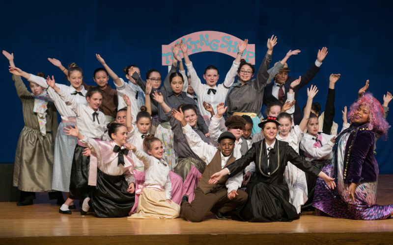 The entire cast of the Circleville Middle School production of Mary Poppins