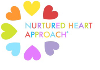 Multi-colored hearts in a circle with the words Nurtured Heart Approach