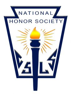 The National Honor Society logo has a torch in the center