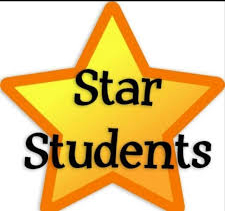 A large gold star with the words Star Students written across in black