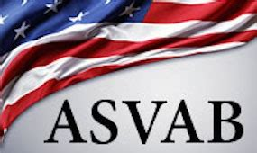 An American flag with the letters ASVAB written on the bottom